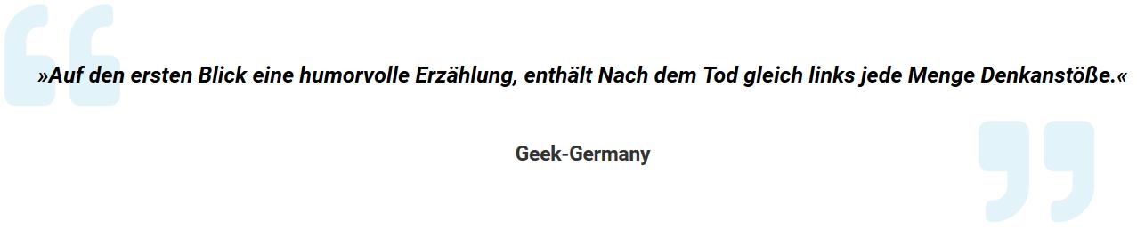 Testimonial Geek-Germany.de